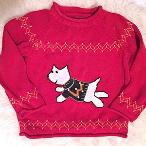Lands End girls sweater red 5T